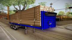 Flatbed Trailer Blue