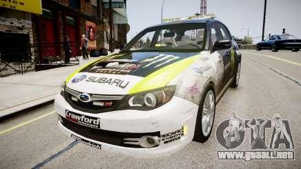 Subaru Impreza WRX STi K.Block para GTA 4
