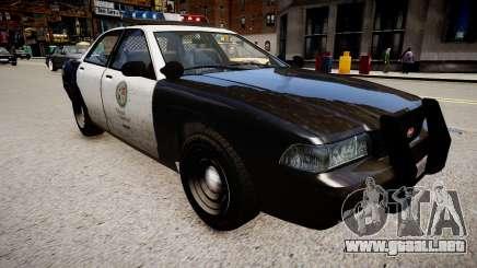 El coche de la policía de GTA V para GTA 4