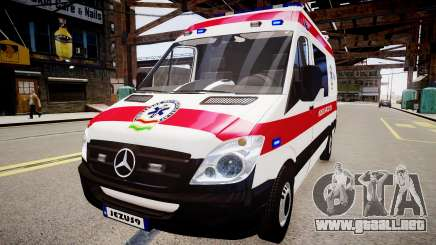 Hungarian Mercedes Sprinter Ambulance para GTA 4