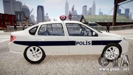 Renault Clio Symbol Police 2011 para GTA 4 left