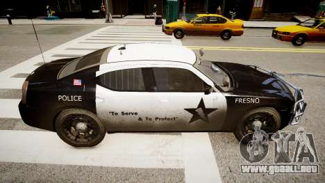 Dodge Charger Police para GTA 4 left