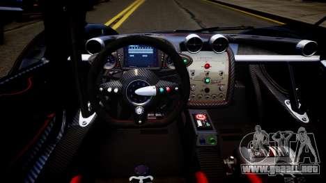 Pagani Zonda R Evolucion Final para GTA 4 vista interior