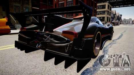 Pagani Zonda R Evolucion Final para GTA 4 left