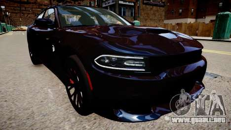Dodge Charger SRT Hellcat 2015 para GTA 4 visión correcta