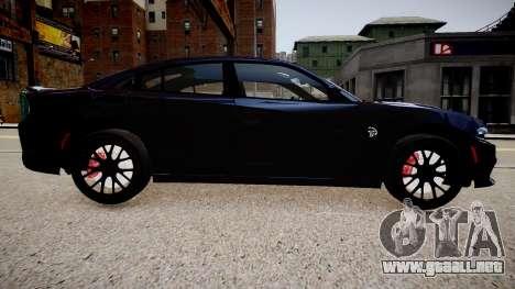Dodge Charger SRT Hellcat 2015 para GTA 4 left