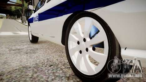 Renault Clio Symbol Police 2011 para GTA 4 vista hacia atrás