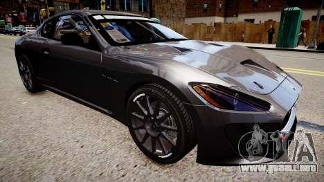 Maserati GranTurismo MC para GTA 4 visión correcta