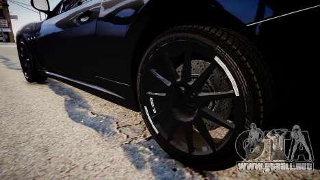 Maserati GranTurismo MC para GTA 4 vista hacia atrás
