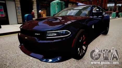 Dodge Charger SRT Hellcat 2015 para GTA 4