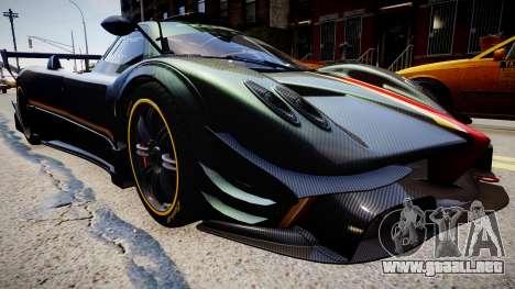 Pagani Zonda R Evolucion Final para GTA 4 Vista posterior izquierda