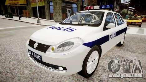 Renault Clio Symbol Police 2011 para GTA 4 visión correcta