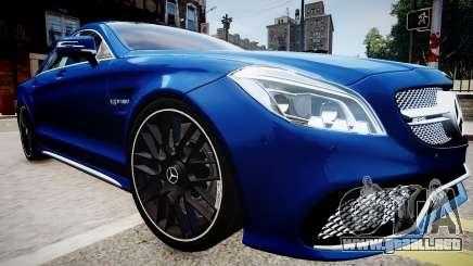 Mercedes-Benz CLS 63 AMG W218 2015 para GTA 4