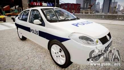 Renault Clio Symbol Police 2011 para GTA 4