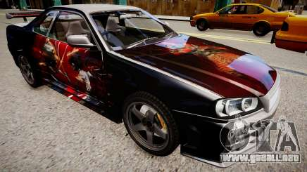 Nissan Skyline R34 Paintjob by eXTaron para GTA 4