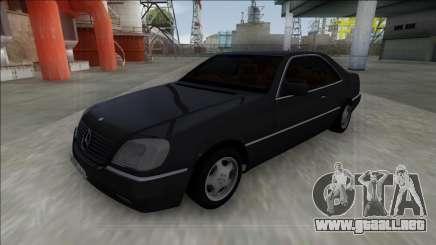 1993 Mercedes-Benz 600SEC para GTA San Andreas