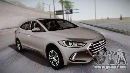 Hyundai Elantra 2017 para GTA San Andreas