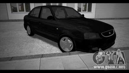 Hyundai Accent Stock чёрный para GTA San Andreas