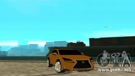 Lexus Nx 200 F-sport para GTA San Andreas