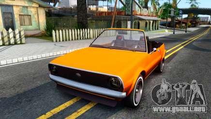 GTA V Declasse Rhapsody Cabrio Style para GTA San Andreas