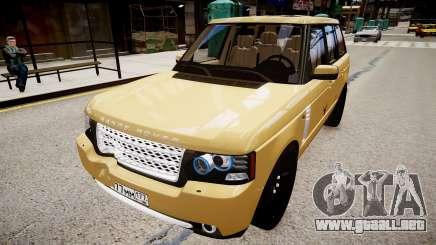 Land Rover Supercharged 2012 para GTA 4