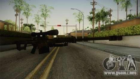 CoD 4: MW - Barrett M82 Remastered para GTA San Andreas