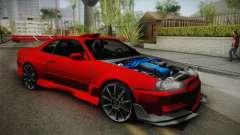 Nissan Skyline R34 Tuned para GTA San Andreas