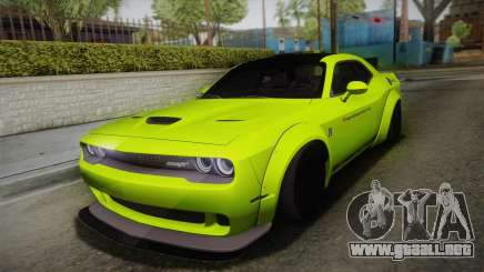 Dodge Challenger Hellcat Liberty Walk LB Perform para GTA San Andreas