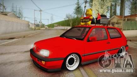 Volkswagen Golf 3 Stance para GTA San Andreas