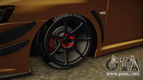 Mitsubishi Lancer EvoStreet para GTA San Andreas vista hacia atrás