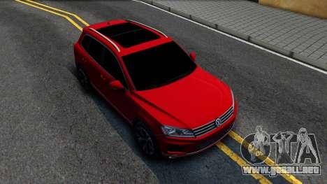 Volkswagen Touareg 2015 para la visión correcta GTA San Andreas