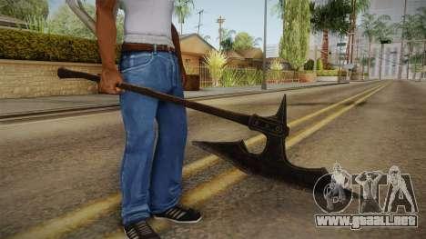 The Elder Scrolls V: Skyrim - Executioner Axe para GTA San Andreas tercera pantalla