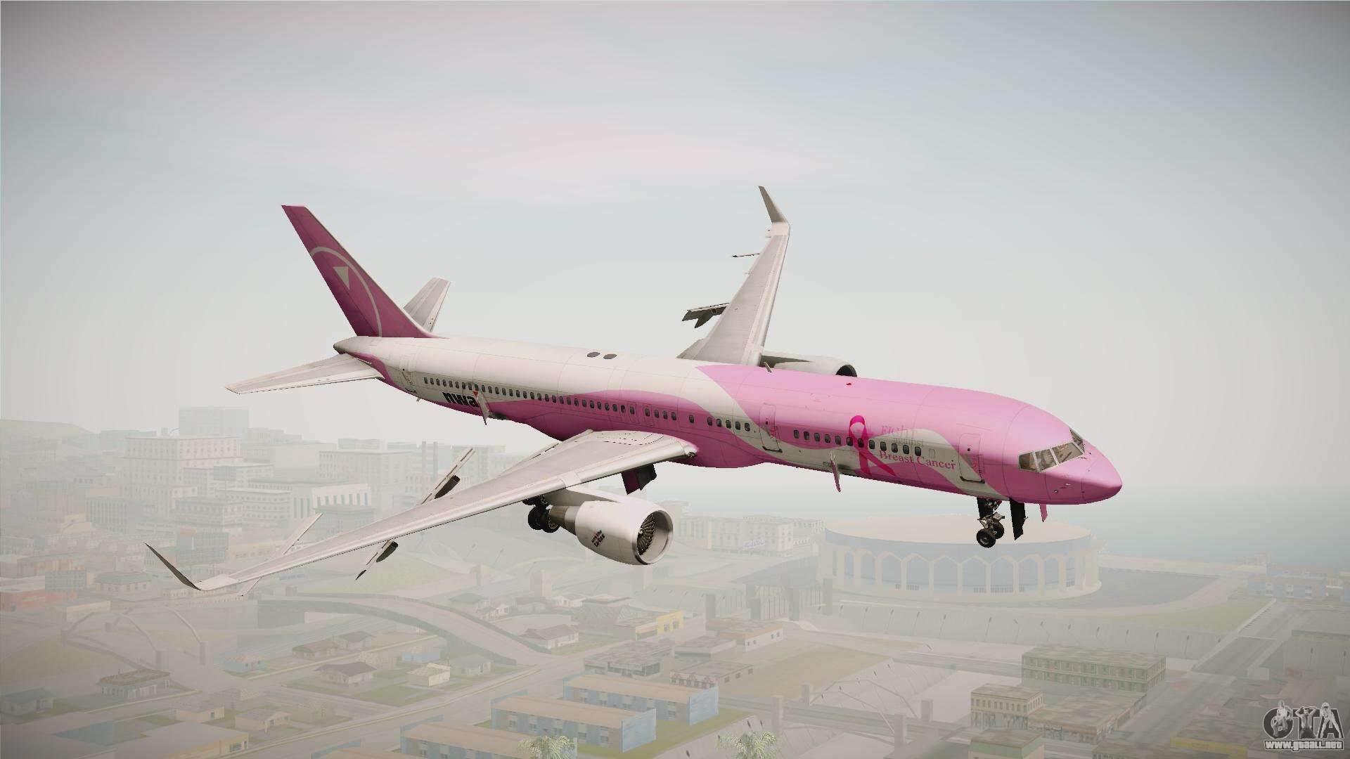 Boeing 757 200 Northwest Airlines Breast Cancer Para Gta