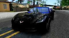 Chevrolet Corvette Stingray C7 2014 Blue Star para GTA San Andreas