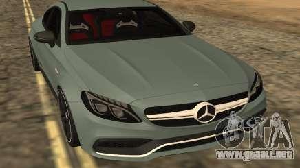 Mercedes-Benz C63S 2017 para GTA San Andreas