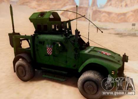 Oshkosh M-ATV croata de Vehículos Blindados Text para GTA San Andreas