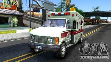Resident Evil Ambulance para GTA San Andreas