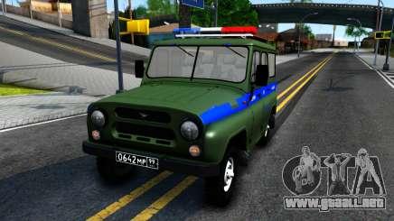 UAZ-31512 Militar de Auto Inspección para GTA San Andreas