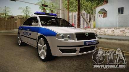 Skoda Superb Serbian Police v1 para GTA San Andreas