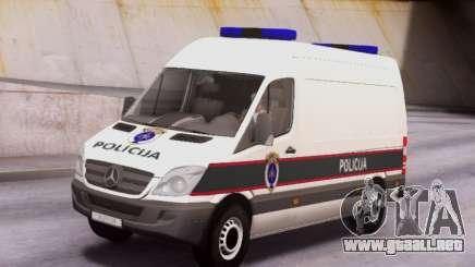 Mercedes-Benz Sprinter BIH Police Van para GTA San Andreas