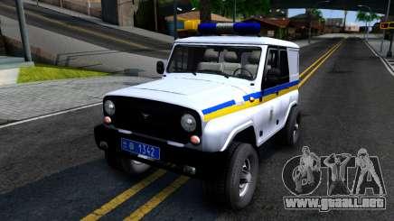 UAZ Hunter Policía de Ucrania para GTA San Andreas