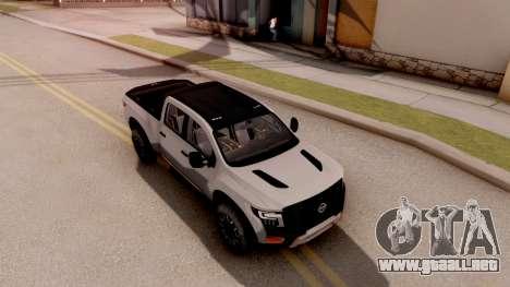 Nissan Titan Warrior 2017 para la visión correcta GTA San Andreas
