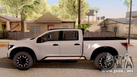 Nissan Titan Warrior 2017 para GTA San Andreas left