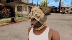 Máscara De Perro Pug para GTA San Andreas