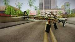 Orange Camo M4 para GTA San Andreas