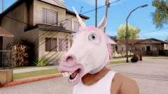 Máscara De Unicornio para GTA San Andreas
