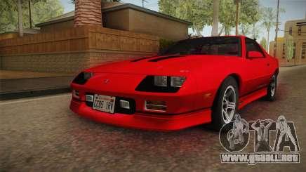 Chevrolet Camaro IROC-Z 1990 1.1.0 HQLM para GTA San Andreas