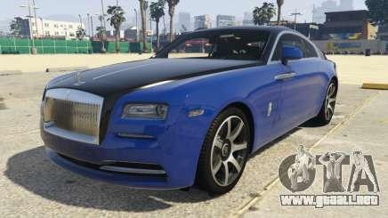 Rolls-Royce Wraith 1.1 para GTA 5