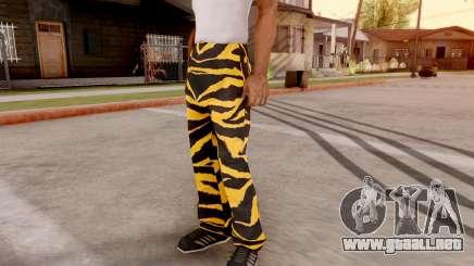 Tigre pantalones para GTA San Andreas