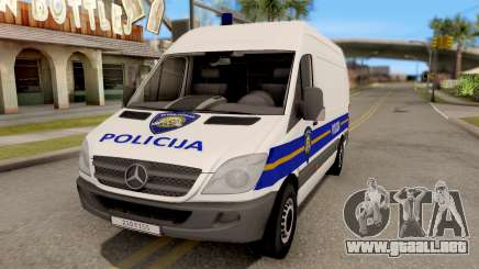 Mercedes-Benz Sprinter Croatian Police Van para GTA San Andreas
